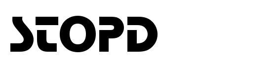шрифт StopD, бесплатный шрифт StopD, предварительный просмотр шрифта StopD