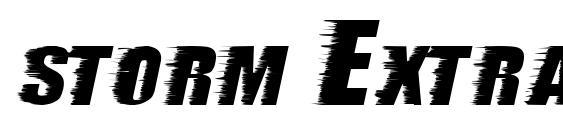 шрифт storm ExtraBold, бесплатный шрифт storm ExtraBold, предварительный просмотр шрифта storm ExtraBold