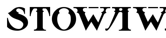 Шрифт Stowaway MF