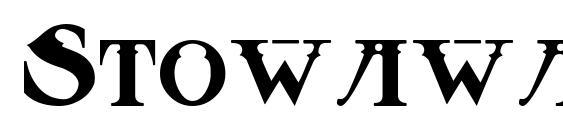 Шрифт Stowaway