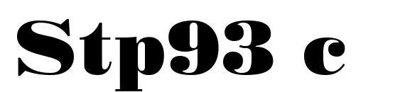 Stp93 c Font