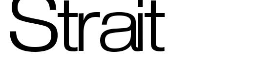 шрифт Strait, бесплатный шрифт Strait, предварительный просмотр шрифта Strait