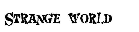 шрифт Strange world, бесплатный шрифт Strange world, предварительный просмотр шрифта Strange world