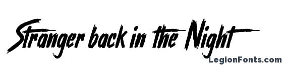 Stranger back in the Night font, free Stranger back in the Night font, preview Stranger back in the Night font