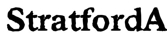 Шрифт StratfordAntique Bold