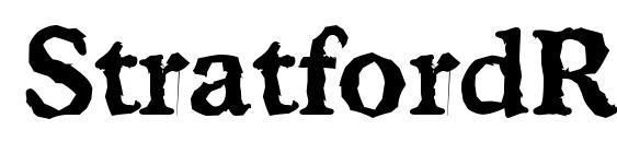 шрифт StratfordRandom Bold, бесплатный шрифт StratfordRandom Bold, предварительный просмотр шрифта StratfordRandom Bold