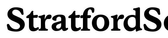 Шрифт StratfordSerial Bold