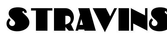 Шрифт Stravinski Deco
