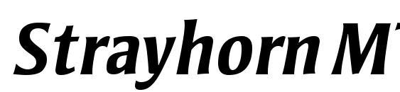 Шрифт Strayhorn MT Bold Italic