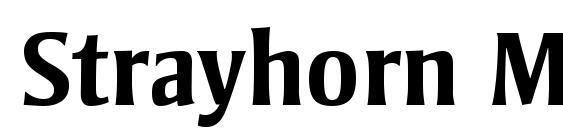 Шрифт Strayhorn MT Bold