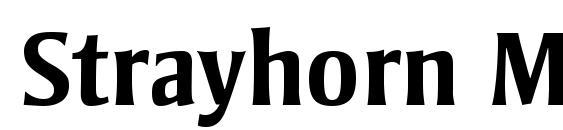 Шрифт Strayhorn MT OsF Bold
