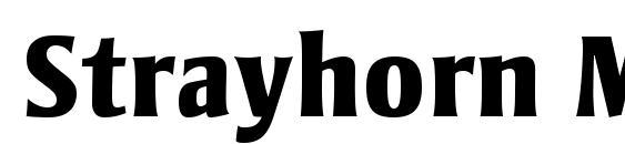 Шрифт Strayhorn MT OsF Extra Bold
