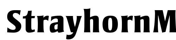 StrayhornMTStd ExtraBold Font
