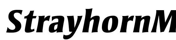 StrayhornMTStd ExtraBoldIt Font
