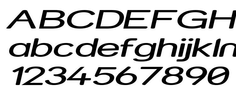 glyphs Street Expanded Italic font, сharacters Street Expanded Italic font, symbols Street Expanded Italic font, character map Street Expanded Italic font, preview Street Expanded Italic font, abc Street Expanded Italic font, Street Expanded Italic font