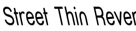 Шрифт Street Thin Reverse Italic