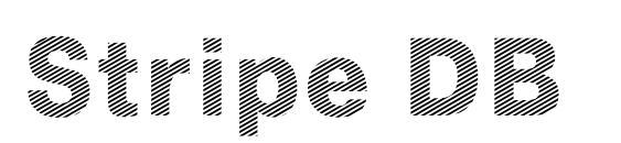 Stripe DB font, free Stripe DB font, preview Stripe DB font