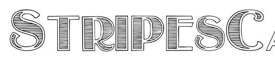 Шрифт StripesCaps