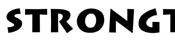 Strongtype regular Font