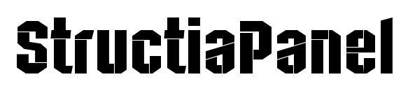 StructiaPanel Regular font, free StructiaPanel Regular font, preview StructiaPanel Regular font