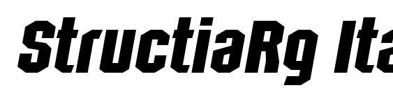 StructiaRg Italic font, free StructiaRg Italic font, preview StructiaRg Italic font
