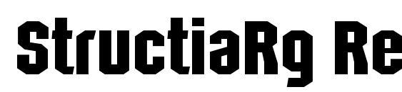 шрифт StructiaRg Regular, бесплатный шрифт StructiaRg Regular, предварительный просмотр шрифта StructiaRg Regular