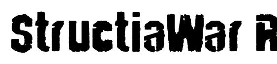 Шрифт StructiaWar Regular