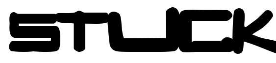 шрифт STUCK, бесплатный шрифт STUCK, предварительный просмотр шрифта STUCK