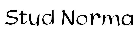 шрифт Stud Normal, бесплатный шрифт Stud Normal, предварительный просмотр шрифта Stud Normal