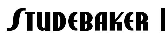 Шрифт Studebaker NF Bold