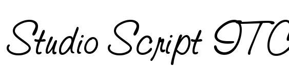 Шрифт Studio Script ITC TT