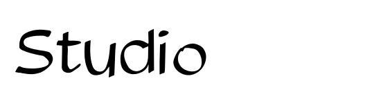 шрифт Studio, бесплатный шрифт Studio, предварительный просмотр шрифта Studio