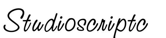 Шрифт Studioscriptc
