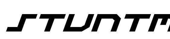 Stuntman Expanded Italic Font