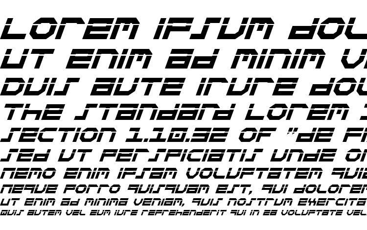 specimens Stuntman Laser Italic font, sample Stuntman Laser Italic font, an example of writing Stuntman Laser Italic font, review Stuntman Laser Italic font, preview Stuntman Laser Italic font, Stuntman Laser Italic font