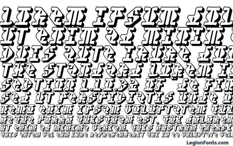 образцы шрифта Stupefaction3D, образец шрифта Stupefaction3D, пример написания шрифта Stupefaction3D, просмотр шрифта Stupefaction3D, предосмотр шрифта Stupefaction3D, шрифт Stupefaction3D