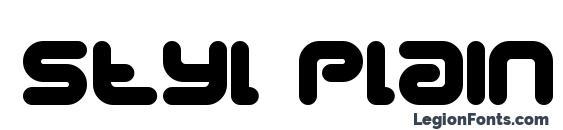 Styl plain Font