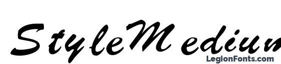 Шрифт Style Medium