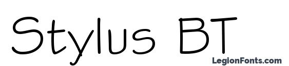 Stylus BT Font