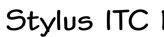 Шрифт Stylus ITC Bold