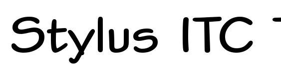 Шрифт Stylus ITC TT Bold