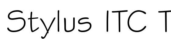 Шрифт Stylus ITC TT