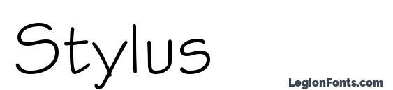 шрифт Stylus, бесплатный шрифт Stylus, предварительный просмотр шрифта Stylus