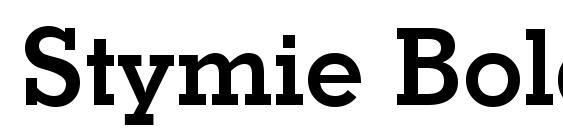 Шрифт Stymie Bold BT