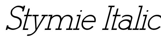 Stymie Italic Italic Font