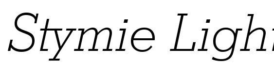 Stymie Light Italic BT Font