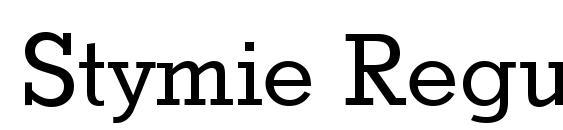 Stymie Regular Font