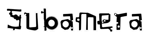 Шрифт Subamera