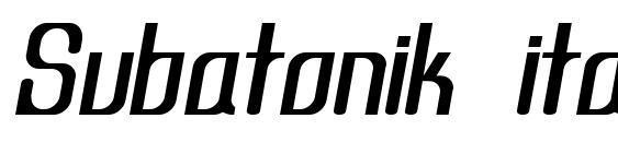 Шрифт Subatonik italic