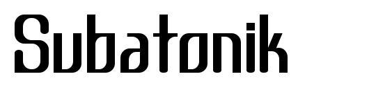Шрифт Subatonik